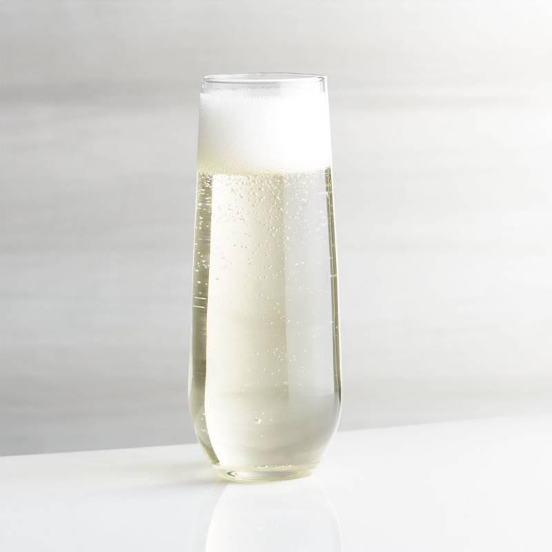 Crate & Barrel - Copa sin Tallo para Champagne 29 ml