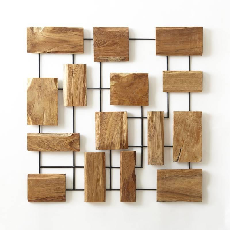 Crate & Barrel - Arte para Pared de Teca Marcel