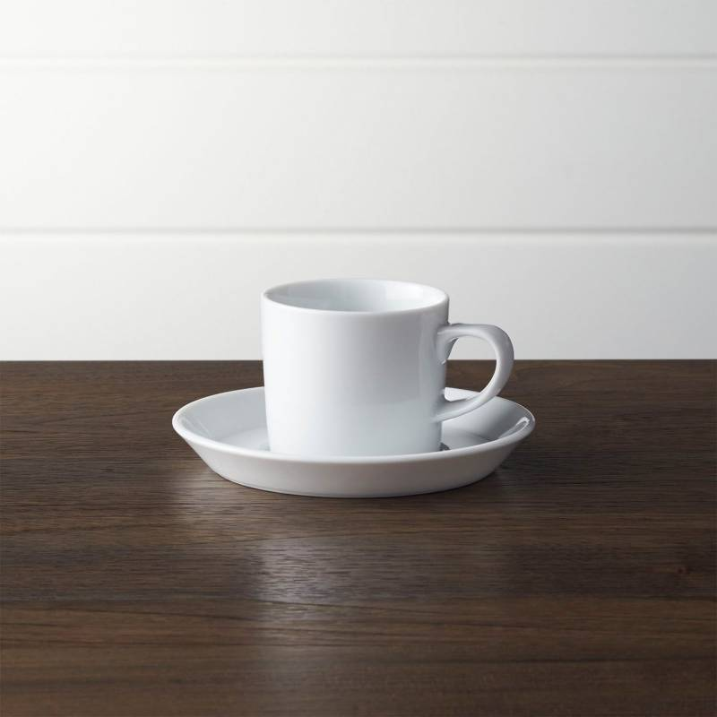 Crate & Barrel - Mug con Plato Base Verge 6 cm