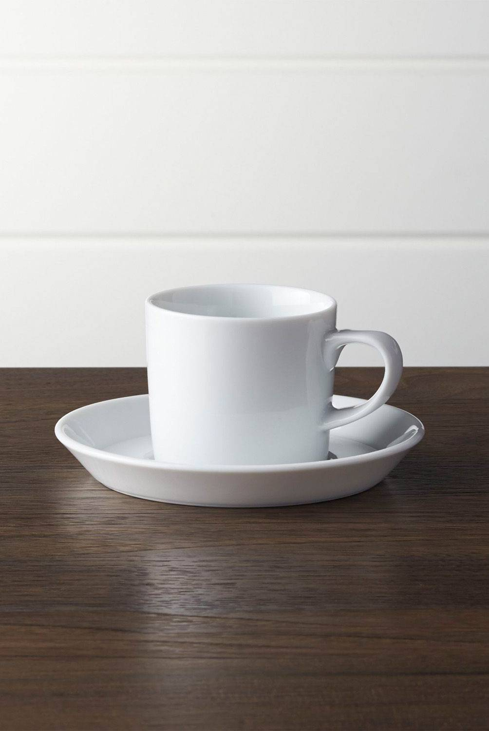 Crate & Barrel - Mug con Plato Base Verge 6 cm