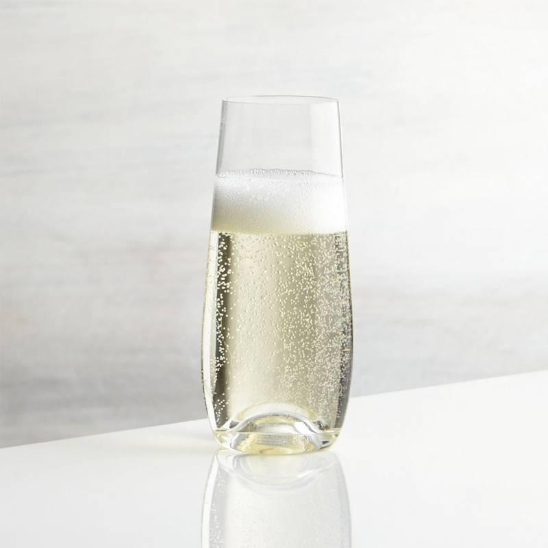Crate & Barrel - Copa sin Base para Champagne Lulie
