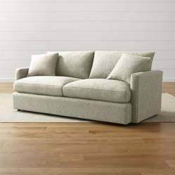Crate & Barrel - Sofá Lounge II 2 Puestos Crema 211 cm.