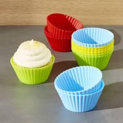 Crate & Barrel - Setx 12 Moldes de Cupcakes en Silicona