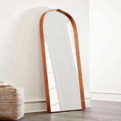 Crate & Barrel - Espejo de Piso Penarth Nuez en Madera 193 x 90 cm