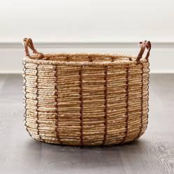 Crate & Barrel - Canasta Emory Ámbar Pequeña