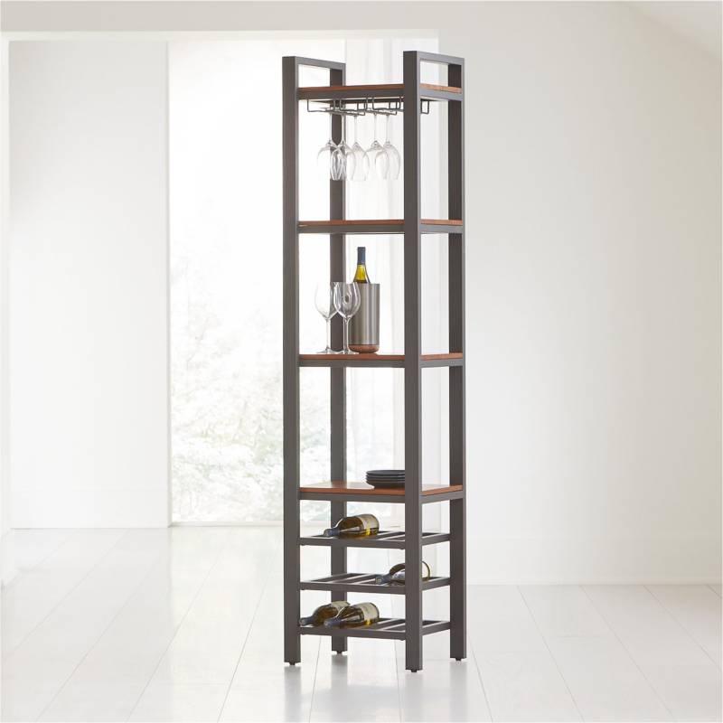 Crate & Barrel - Bar Pilsen Grafito 193 cm.