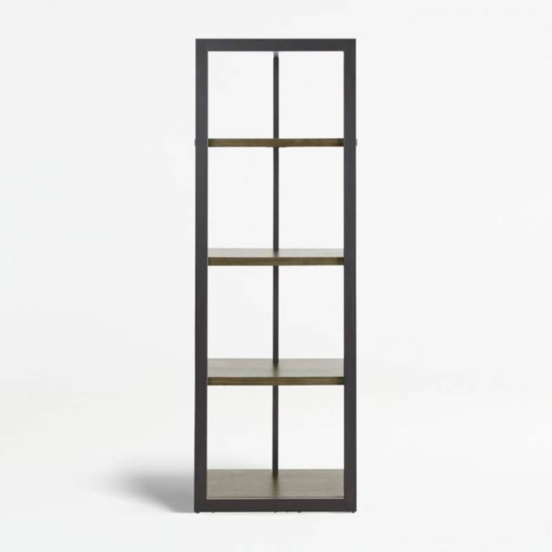 Crate & Barrel - Estante/Perchero Nico Café 185 cm.