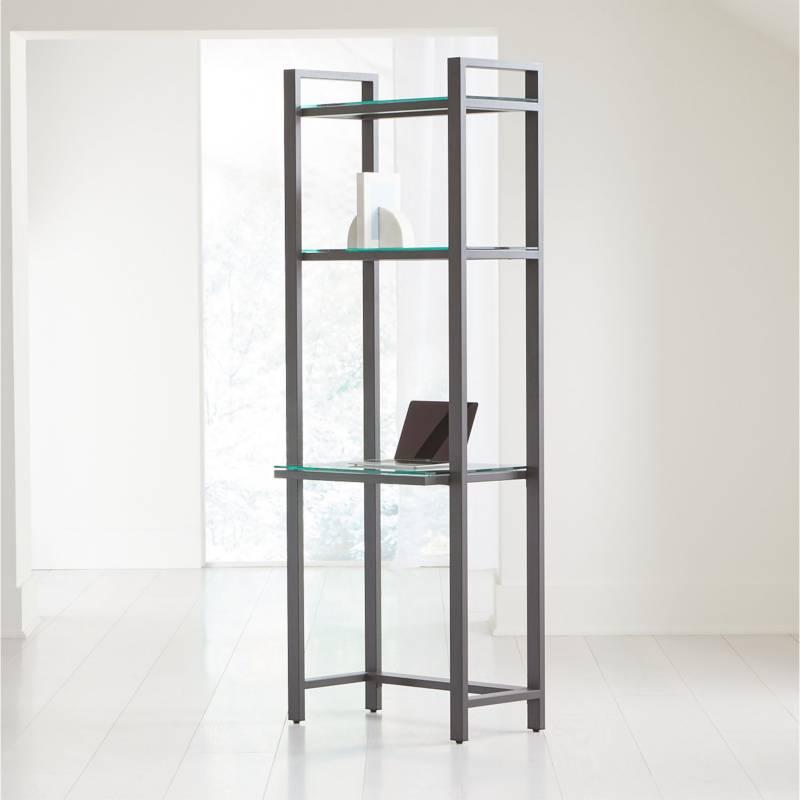 Crate & Barrel - Estante Pilsen Grafito 193 cm.