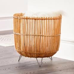 Crate & Barrel - Canasta Palos 46 x 45 cm