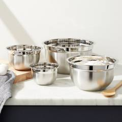 Crate & Barrel - Setx 4 Bowls en Acero Inoxidable