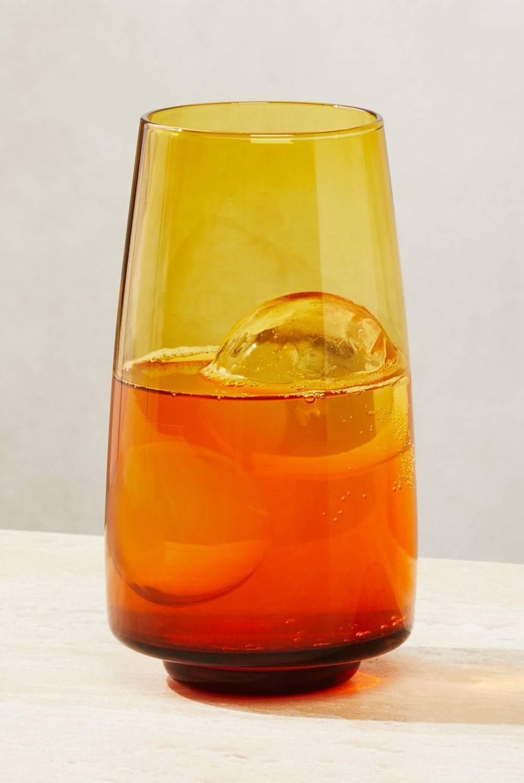 Crate & Barrel - Vaso Byrdie Amber antigüo grande