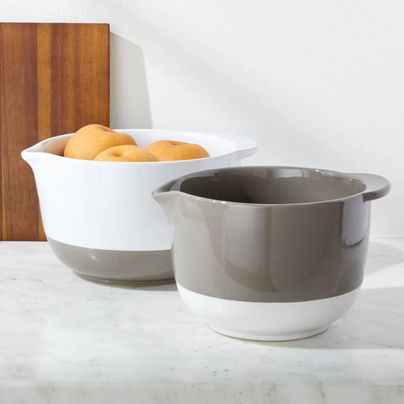 Crate & Barrel - Set x2 Bowls para Mezclar
