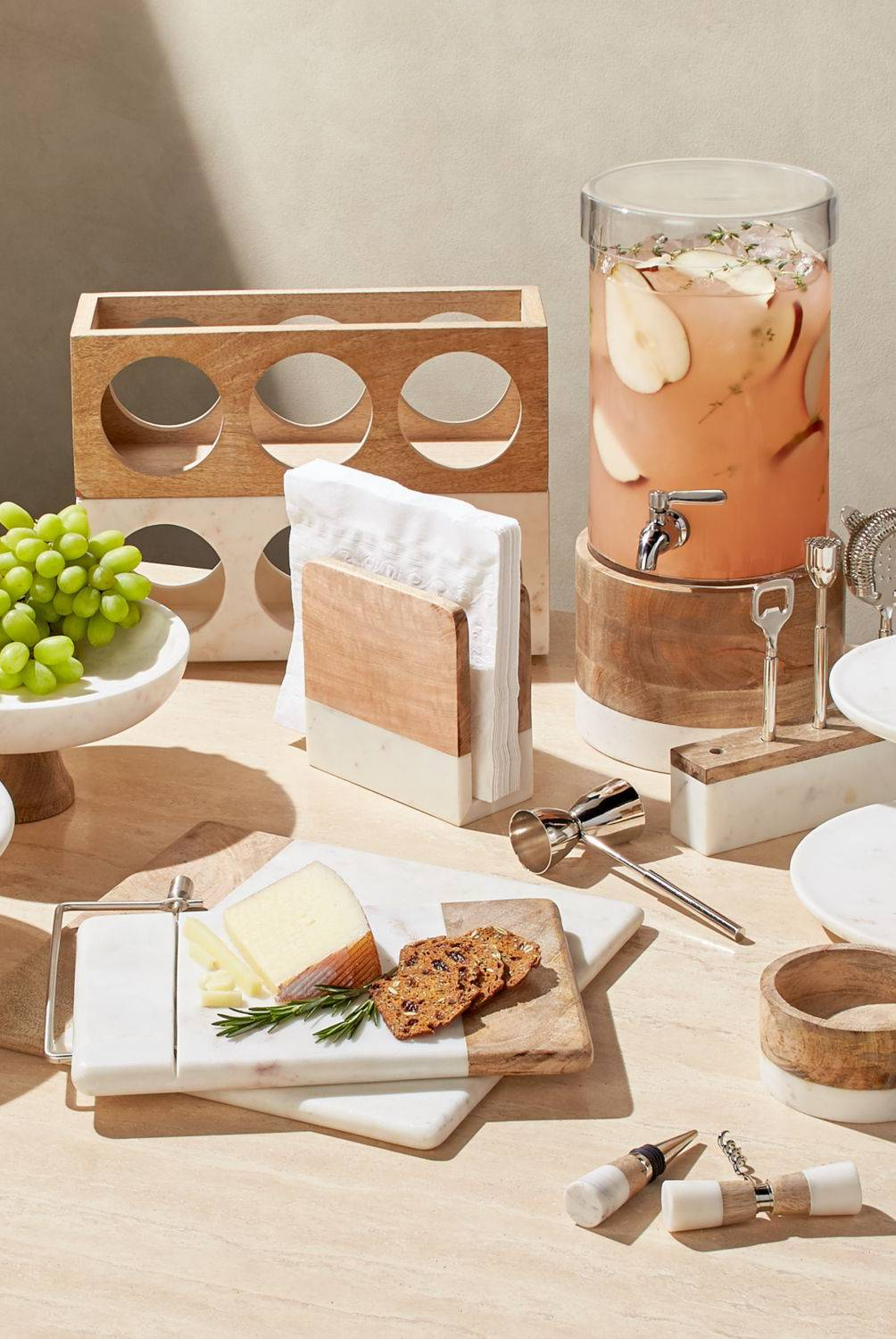 Crate & Barrel - Set x4 de Coctelería Acero Inoxidable