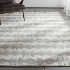 Crate & Barrel - Alfombra Grafito Neutral
