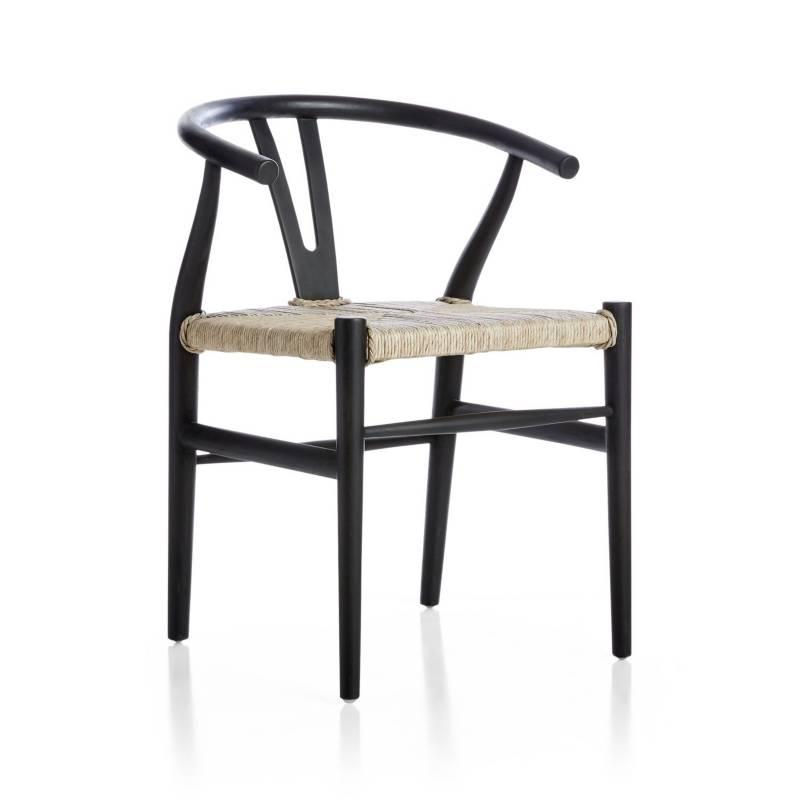 Crate & Barrel - Silla Crescente Negra