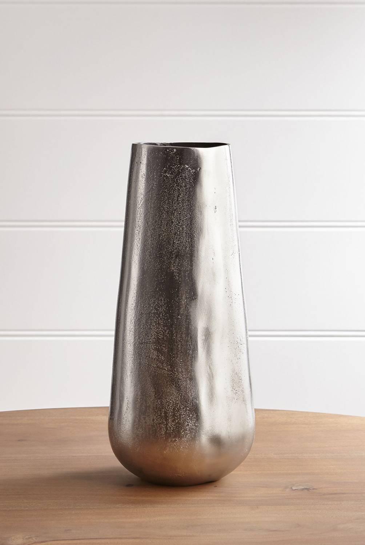 Crate & Barrel - Florero de Metal Element Plata