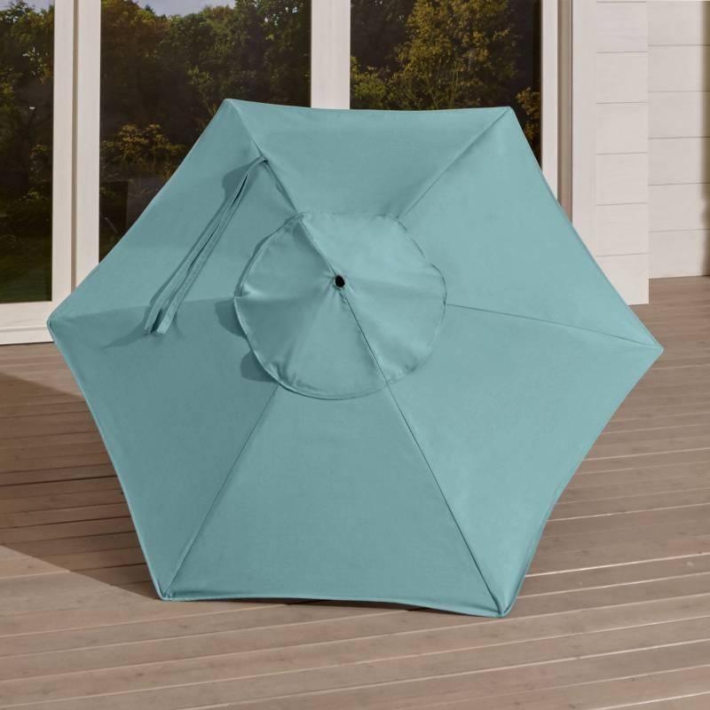 Crate & Barrel - Funda para Sombrilla Redonda Azul 183 cm.