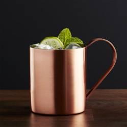 Crate & Barrel - Vaso para Moscow Mule Cobre