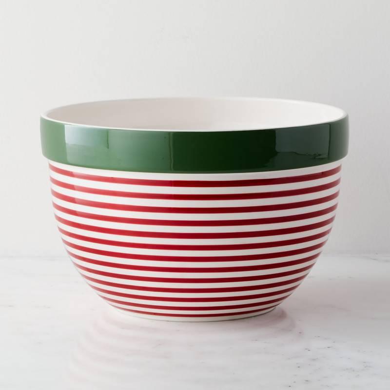 Crate & Barrel - Bowl de Mezclar Holiday en Cerámica  25 cm