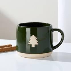 Crate & Barrel - Mug Christmas Tree en Cerámica 13 cm