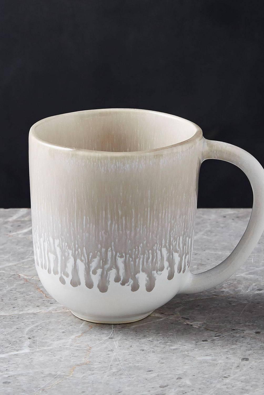 Crate & Barrel - Mug Caspian Gris 10 cm