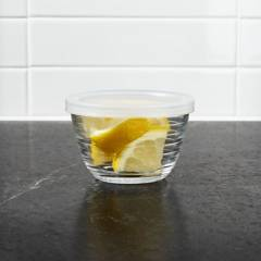 Crate & Barrel - Mini Bowl Acanalado con Tapa 9cm