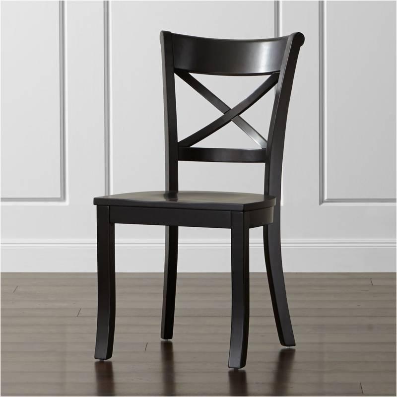Crate & Barrel - Silla de Comedor Vintner Negra 90 cm.