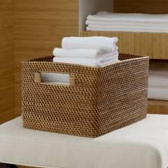 Crate & Barrel - Canasta Alta Sedona Miel 37 x 27 cm