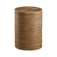 Crate & Barrel - Canasto Sedona Miel Cilindro
