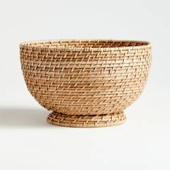 Crate & Barrel - Bowl Artesia Natural en Ratán Grande