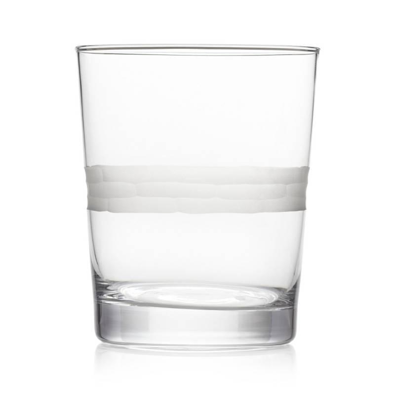 Crate & Barrel - Vaso de Whisky Harlow 414 cm.