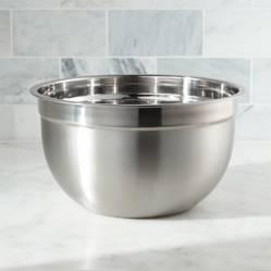 Crate & Barrel - Bowl de Acero Inoxidable 5Qt