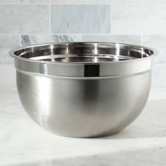 Crate & Barrel - Bowl de Acero Inoxidable 7Qt