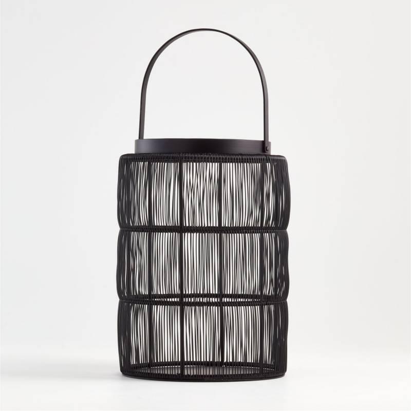 Crate & Barrel - Candelabro Ora Negro Grande