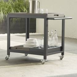 Crate & Barrel - Carro de bar Alfresco II