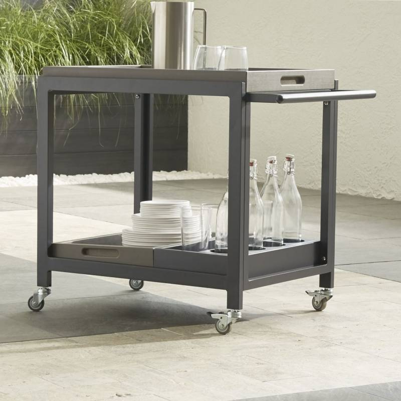 Crate & Barrel - Carro de bar Alfresco II