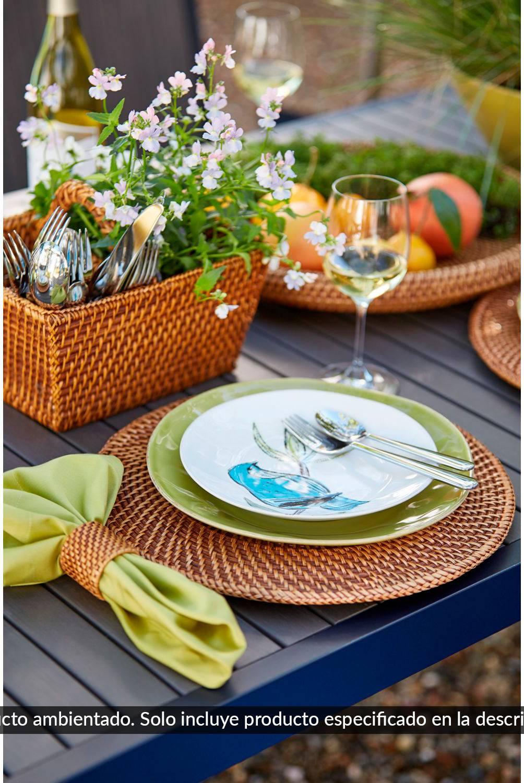 Crate & Barrel - Porta Cubiertos de Ratán Artesia