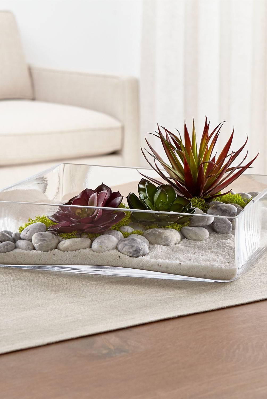 Crate & Barrel - Relleno Decorativo de Piedras Finas Blancas