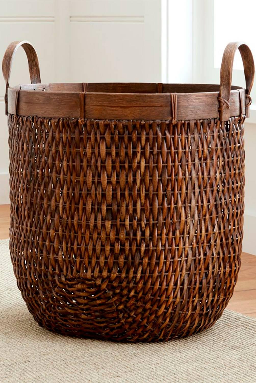 Crate & Barrel - Canasta En Ratán Ovalada