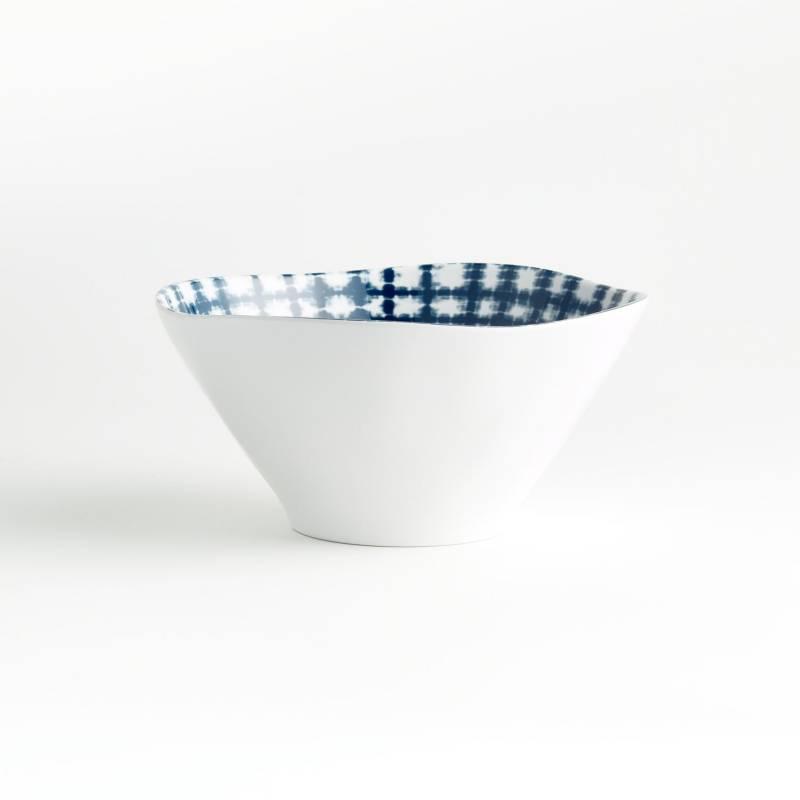 Crate & Barrel - Bowl Marin Shibori en Melamina 16 cm