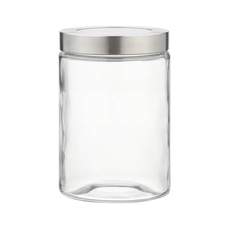 Crate & Barrel - Frasco de Vidrio Con Tapa Chico