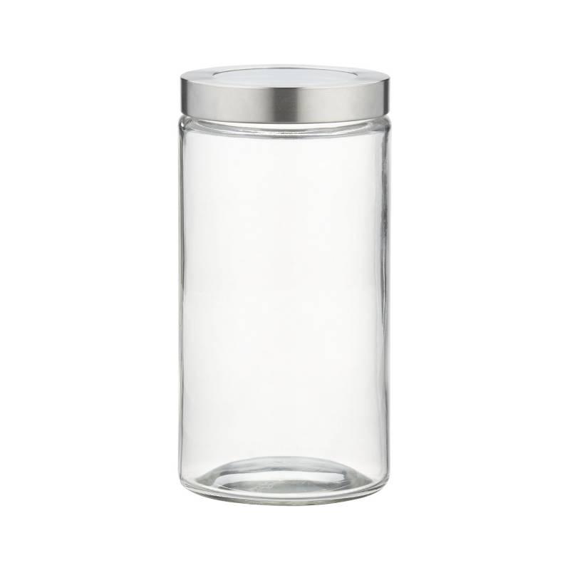 Crate & Barrel - Frasco de Vidrio Con Tapa Mediano