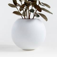 Crate & Barrel - Matera Sphere Blanca 45 x 42 cm