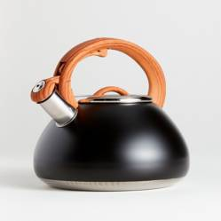Crate & Barrel - Tetera Prímula en Acero Negro 23 cm