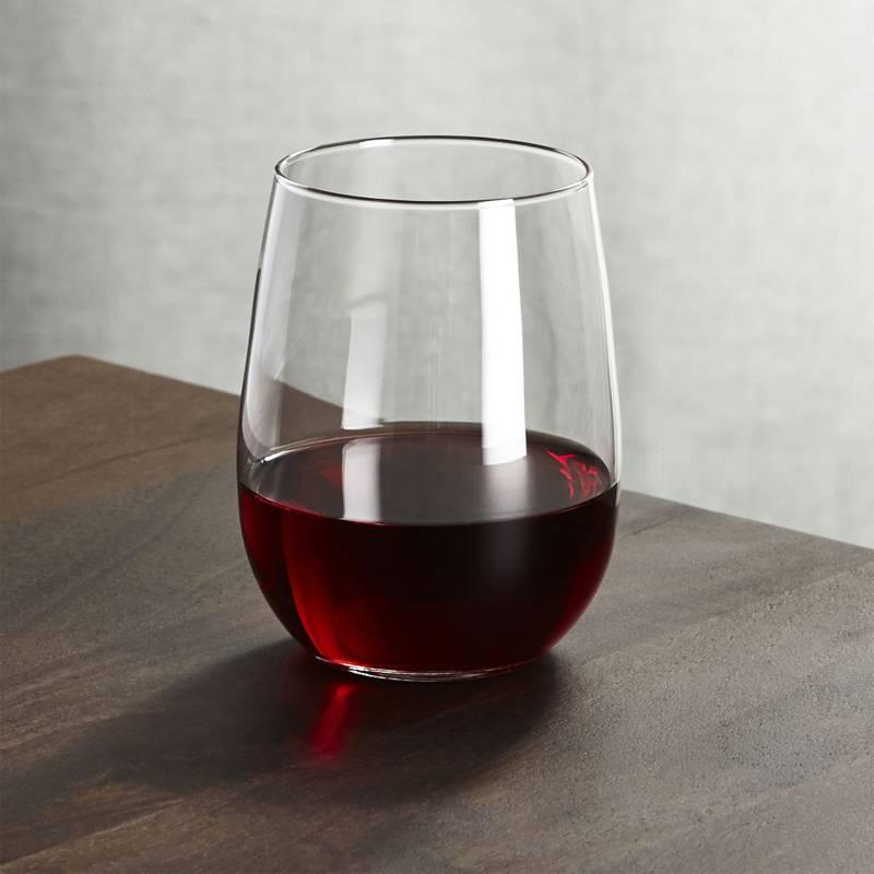 Crate & Barrel - Copa para Vino Tinto sin Tallo