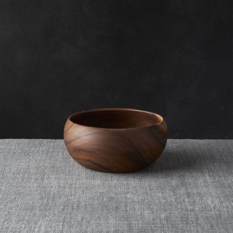 Crate & Barrel - Bowl de Servir Tonto en Madera 15 cm
