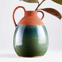 Crate & Barrel - Florero Ashland Rust en Terracota 32 x 23 cm
