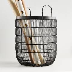 Crate & Barrel - Canasta Claude 49 x 40 cm