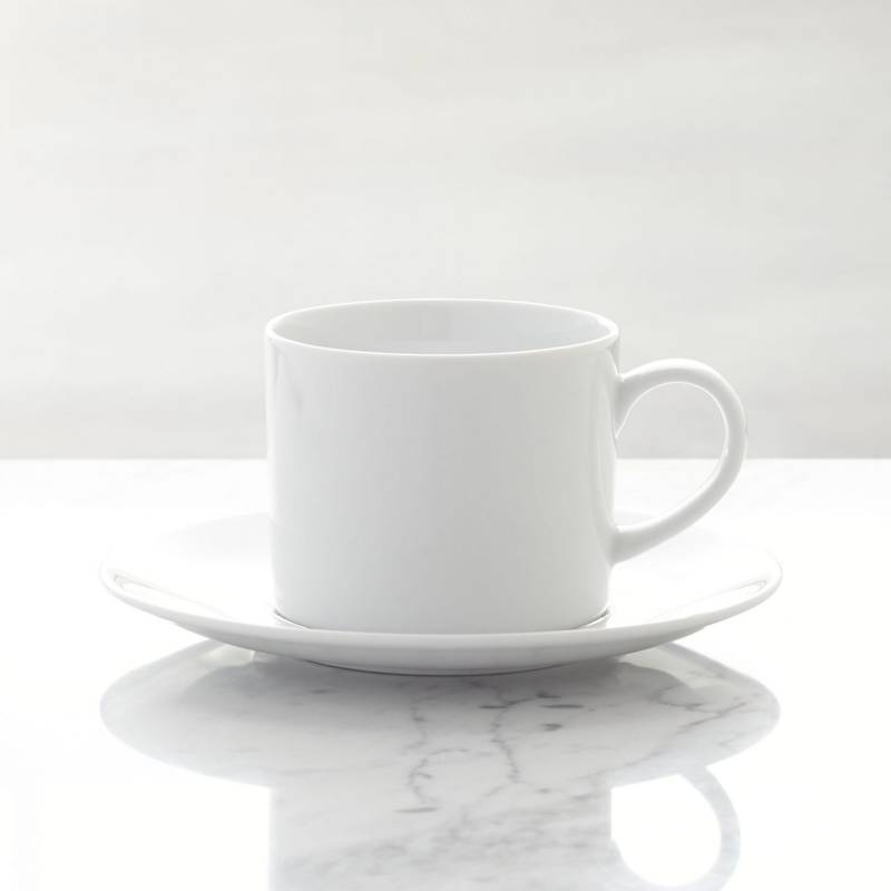 Crate & Barrel - Mug con Plato Base Aspen 11 cm
