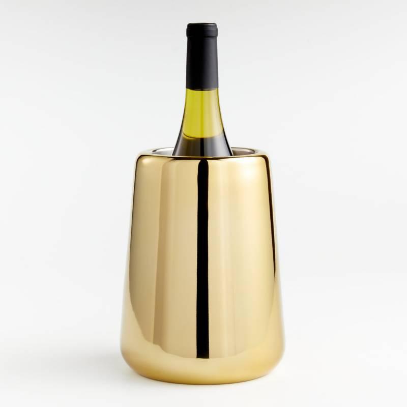 Crate & Barrel - Enfriador Calder de Vino en Latón